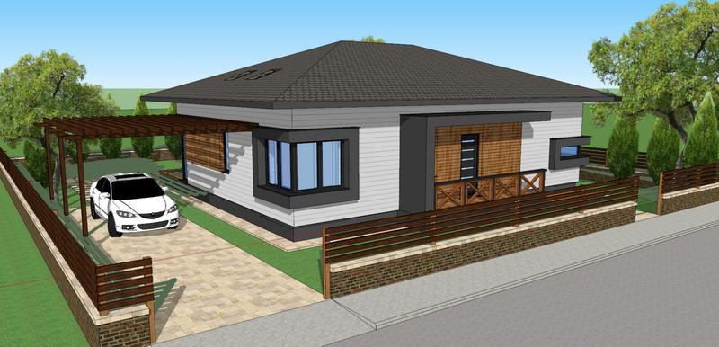 Case parter mansarda 4 camere living case din lemn for Case parter